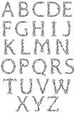 艺术字体nouveau 库存照片