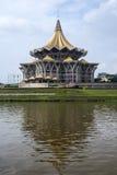 Nouveau bâtiment d'Assemblée législative d'état de Sarawak Photo libre de droits
