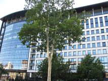 Nouveau bâtiment en Serbie Image stock