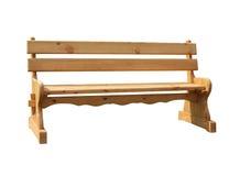 Nouveau banc en bois d'isolement Photos libres de droits