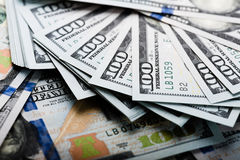 Nouveau billet d'un dollar 100 Image libre de droits