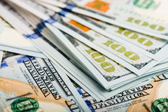 Nouveau billet d'un dollar 100 Photographie stock