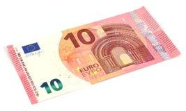 Nouveau billet de banque de l'euro dix Images libres de droits