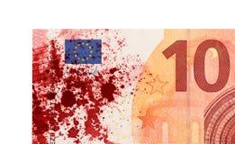 Nouveau billet de banque de l'euro dix, plan rapproché Images libres de droits