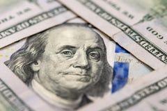 Nouveau billet de banque des 100 dollars Images libres de droits