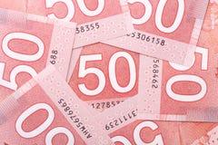 Nouveau billet de cinquante dollars Photographie stock libre de droits