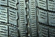 Nouveau bon plan rapproché de pneu d'hiver Photographie stock libre de droits