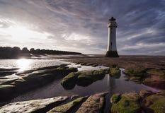 Nouveau Brighton Lighthouse [Liverpool, R-U] Images libres de droits