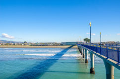 Nouveau Brighton Pier à Christchurch, Nouvelle-Zélande photo libre de droits