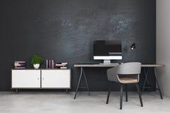 Nouveau bureau avec le lieu de travail Photographie stock