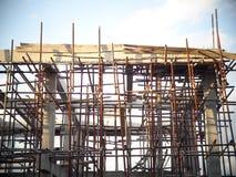 Nouveau bureau ou maison urbaine construisant en construction Photo stock