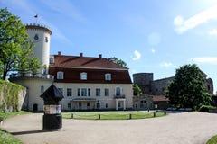 Nouveau château de Cesis photos stock