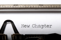 Nouveau chapitre photos stock