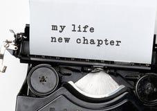 Nouveau chapitre de la vie photos libres de droits