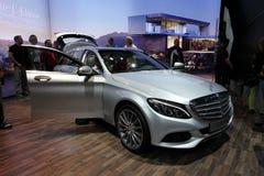 Nouveau chariot de station classe de la c de Mercedes Benz Images libres de droits