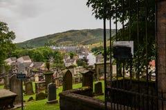 Nouveau cimetière de Calton Photographie stock libre de droits