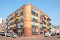 Nouveau complexe d'appartements dedans dans Leidschendam, Pays-Bas photos stock