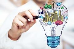 Nouveau concept d'idées de Brainstoring Photographie stock libre de droits