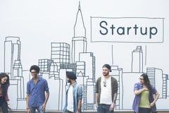 Nouveau concept de démarrage de lancement de stratégie de vision d'affaires Photographie stock