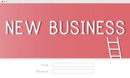 Nouveau concept de login de cible de stratégie de buts d'affaires Photographie stock libre de droits