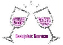 Nouveau concept de nuage de mot de vin Beaujolais illustration de vecteur