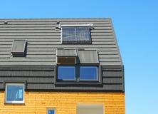 Nouveau concept passif de construction de logements de rendement énergétique Plan rapproché de Photo libre de droits