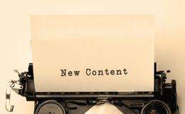 Nouveau contenu Photographie stock libre de droits