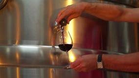 Nouveau contrôle de vin banque de vidéos