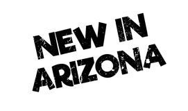 Nouveau dans le tampon en caoutchouc de l'Arizona illustration stock