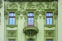 Nouveau del arte El edificio del hotel Imágenes de archivo libres de regalías
