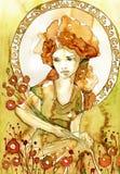 Nouveau di arte, royalty illustrazione gratis
