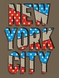 02 Nouveau drapeau de ville de Yorj de typographie, vecteur Images stock