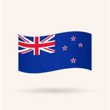 Nouveau drapeau de Zeland Photographie stock