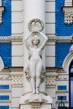 nouveau för konstbyggnadsdetalj arkivfoto