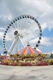 Nouveau Ferris Wheel Navy Pier photographie stock libre de droits