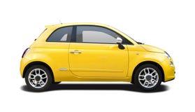 Nouveau Fiat jaune 500 Photo libre de droits