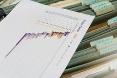 Nouveau fichier d'édition dans le meuble d'archivage photographie stock