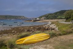 Nouveau Grimsby, Tresco, îles de Scilly, Angleterre photo stock
