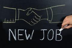 Nouveau Job Concept On Blackboard photos libres de droits