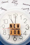 Nouveau Job Time image stock