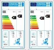 Nouveau label de graphique d'estimation d'énergie illustration libre de droits