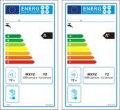 Nouveau label de graphique d'estimation d'énergie illustration de vecteur