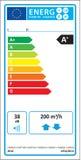 Nouveau label de graphique d'estimation d'énergie d'unité bidirectionnelle de ventilation illustration de vecteur