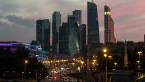 Nouveau laps de temps de ville de Moscou banque de vidéos