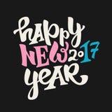 Nouveau lettrage heureux de 2017 ans Photo libre de droits