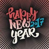 Nouveau lettrage heureux de 2017 ans Photo stock