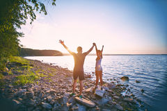 Nouveau lever de soleil Photo libre de droits