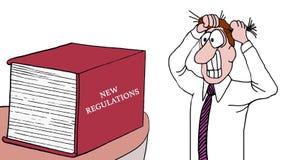 Nouveau livre de règlements illustration stock