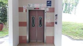 Nouveau lobby d'ascenseur à HDB à plat photo stock