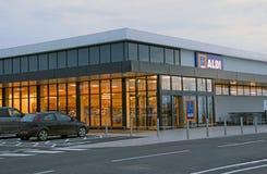 Nouveau magasin d'aldi Images stock